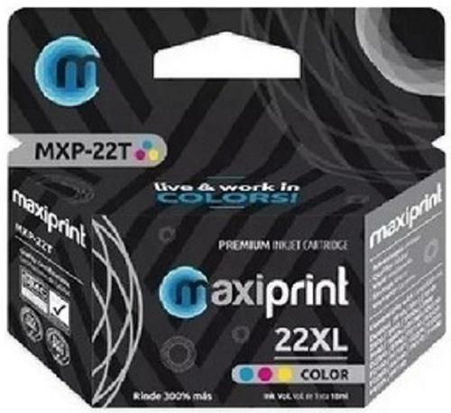 Cartucho Compatible Hp Marca Maxiprint 22 Tri Color Xl