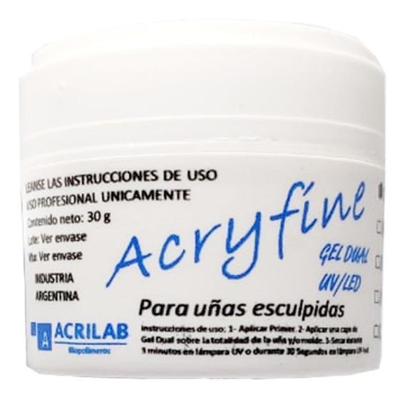 Gel Uv Blanco Construccion Uñas Esculpidas 30 Gr Acryfine