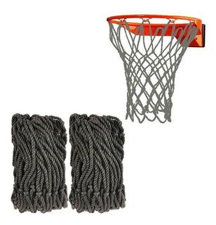 Bowsugar red de baloncesto Red de baloncesto de 2 piezas de red luminosa de nailon trenzado est/ándar para exteriores con luz solar nocturna