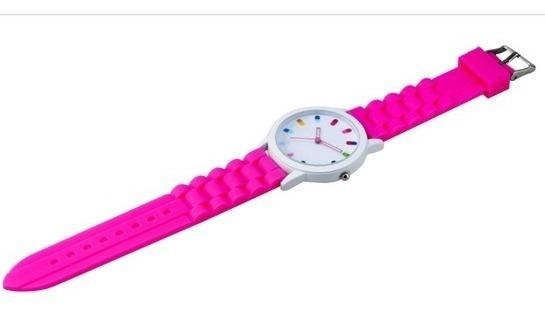 Relógio De Pulso Colorido Pulseira Silicone