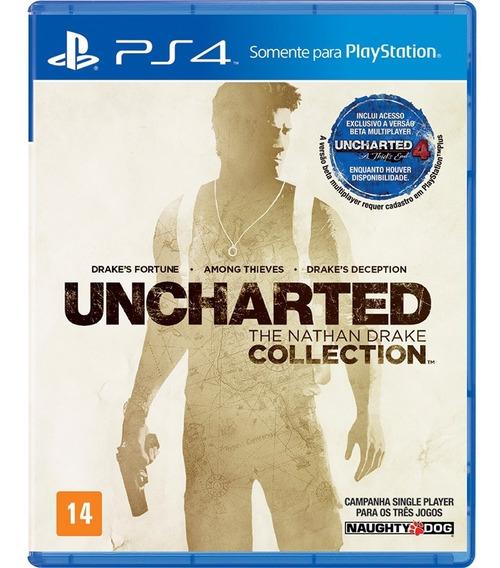 Jogo Uncharted Collection Ps4 Mídia Física Opção Frete 12,00