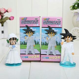 Noivinhos Goku E Chi Chi Topo Bolo Enfeite Casamento Prt Ent