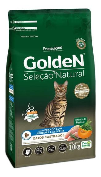 Golden Seleção Natural Gatos Castrados Abobora 1kg