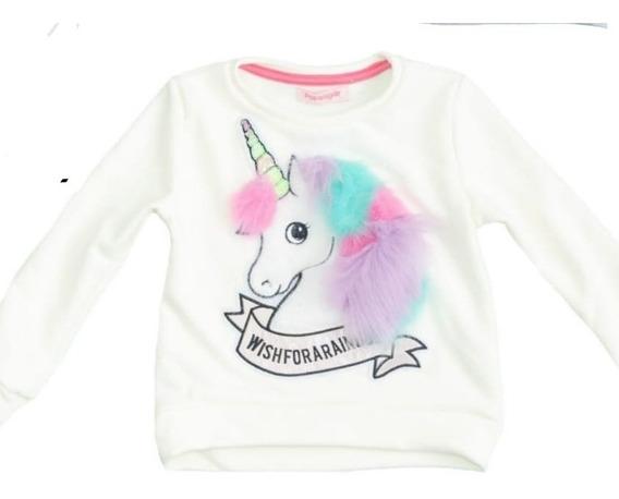 Buzo Nena Unicornio Niña Con Pelos Varios Colores Exclusivo