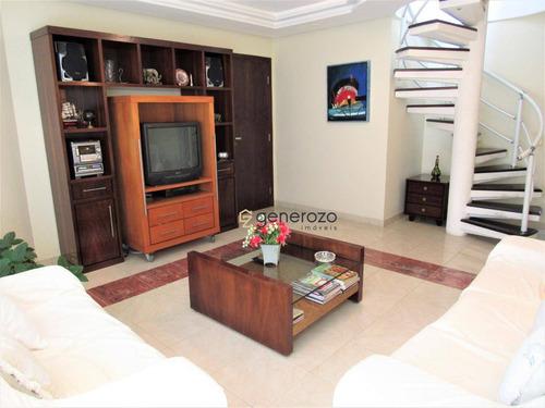 Cobertura Em Pitangueiras, 04 Dormitórios, Com Lazer - Co0011