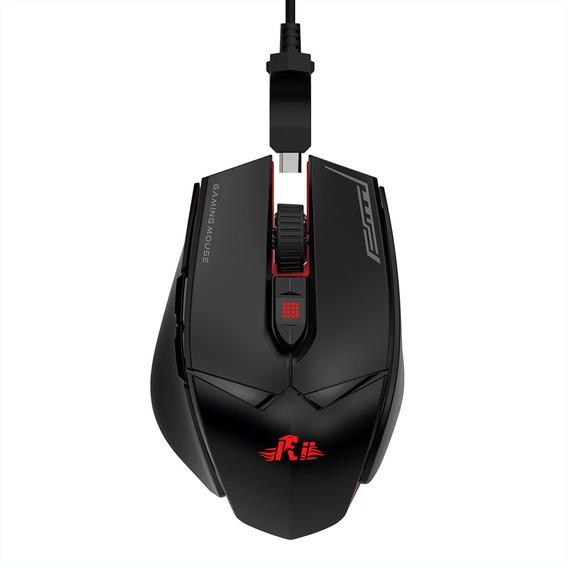 Ri Wired Gaming Mouse 12000dpi 7 Luzes De Respiração