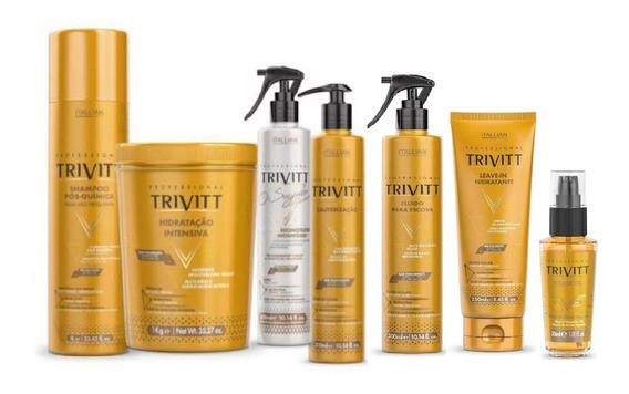 Kit 7 Produtos Profissional Trivitt 2019