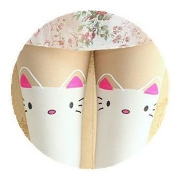 Pantimedias Over Knee Calceta Bicolor Japonesa Lolita Kawai