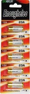 Bateria Pilha 23a 12v/ 5 Unid Calculadora Alarme Uso Geral