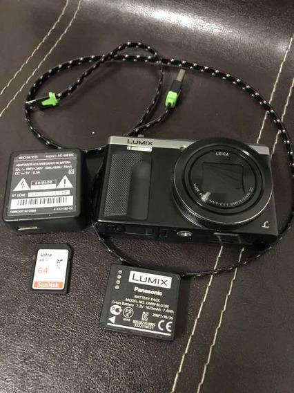 Câmera Lumix Dmc-zs60 Lente Leica,filma 4k, Excelente Estado