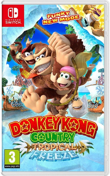 Donkey Kong Country Tropical Freeze Switch Midia Física