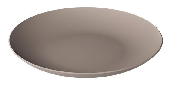 Prato Refeição Guliver 25,7 Cm Cinza Quente Coza