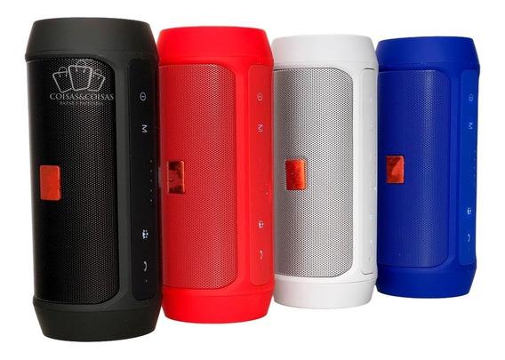 Caixinha Caixa De Som Charge 2+ Bluetooth Sd E Pen Drive