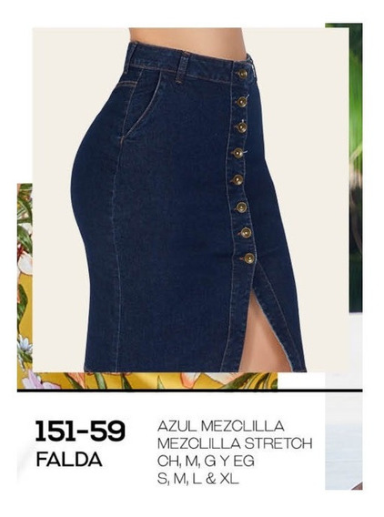 Falda Casual Dama Azul Mezclilla 151-59 Cklass 1-20 J