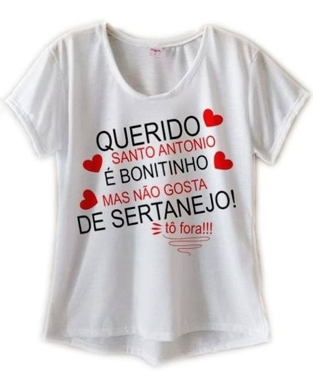 Camiseta Feminina Blusa Feminina Roupas Lindas Santo Antonio