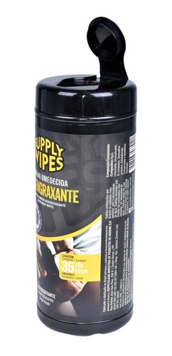 Lenços Umedecidos Desengraxante Com 35 Un Supply Wipes