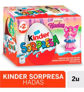 Huevo De Chocolate Kinder Sorpresa Hadas Caja X 2 Unidades