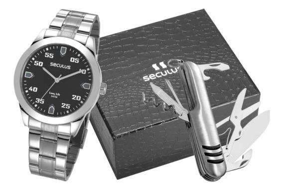 Relógio Seculus Masculino 28976gosvna1kz