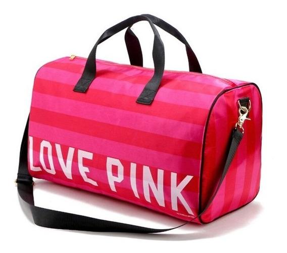 Bolsa Feminina Victoria Secret Love Pink Viagem Academia