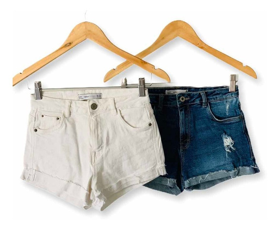 Pack Shorts Jean Zara