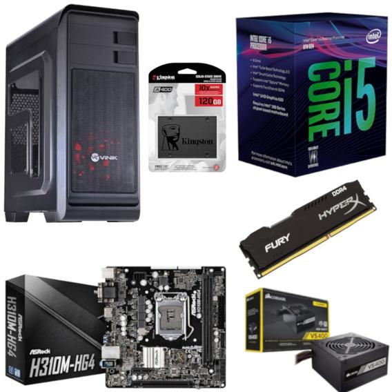 Pc Hunter Intel I5 8400 Mb H310m Hg4 Hx 8gb Vs400 Ssd 120gb