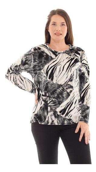 Sweater Terciopelo Talle Grande Art 2306