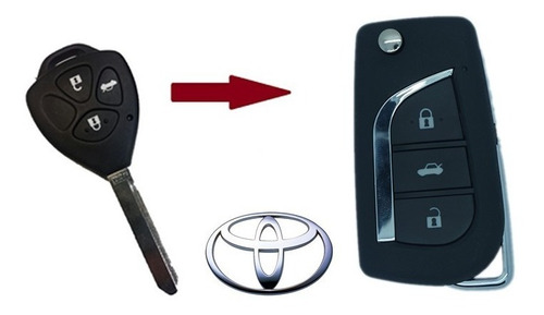 Imagem 1 de 6 de Chave Canivete Completa Toyota Corolla 2009-2014