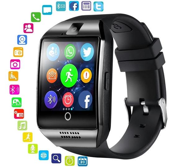 Relógio Q18 Inteligente Smart Bluetooth + Brinde Oferta