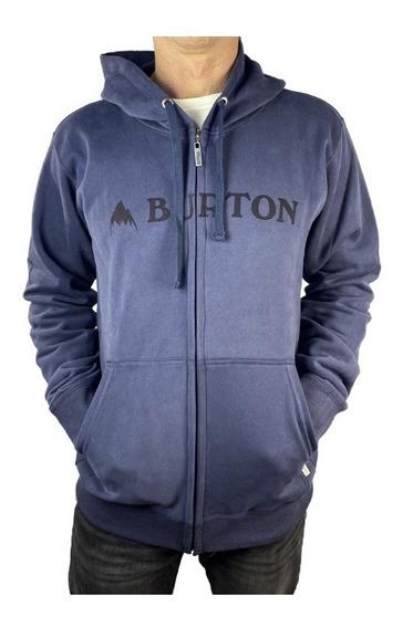 Buzo Campera Canguro Burton Logo Horizontal Algodón Hombre