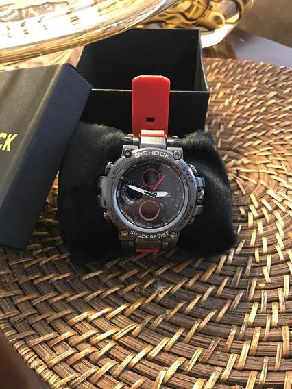 Relógio Casio G-shock Metal Preto/vermelho!! Modelos Novos!