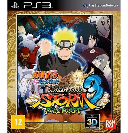 Jogo Naruto Ultimate Ninja Storm 3 Play 3 - Mídia Física
