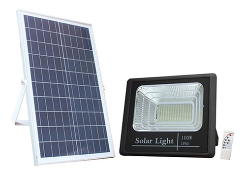 Lampara Solar Led 100w C Sensor Patio Jardin Calles Exterior