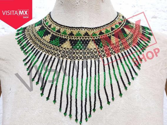 Collar Circular Esmeralda/negro C/aretes - 185909