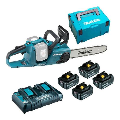 Motosserra À Bateria + 4 Baterias 18v + Carregador  E Maleta