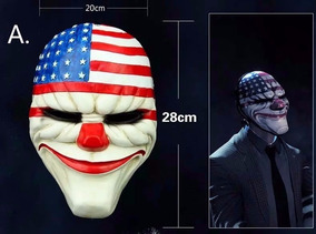 Máscara De Palhaço Payday -4 Unidades
