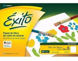 Block Dibujo Escolar Exito Blanco 24 Hojas N°5 Kaosimport 11