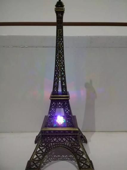 30 Torre Eiffel Metal Con Luz 25cm Regalo Adorno Centro Mesa