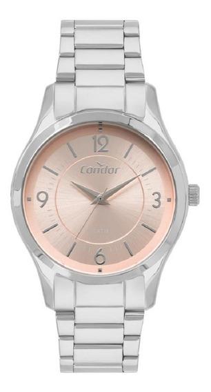 Relógio Condor Feminino Co2036kvm/3j Prata Rose Analogico