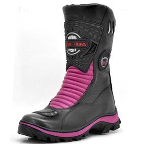 Bota Motociclista Atron Shoes 302 Feminina Promoção Top