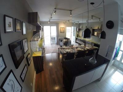 Apartamento De 60 Metros 2 Domitórios 1 Suíte Com 2 Vagas - Varanda Com Churrasqueira No Real Parque - Codigo: Ap1396 - Ap1396