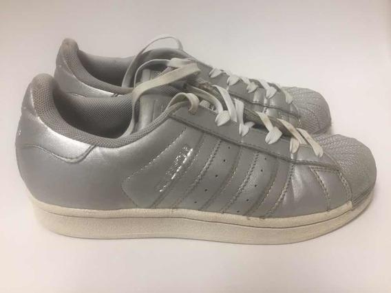 Zapatillas adidas Original Superstar Plateadas