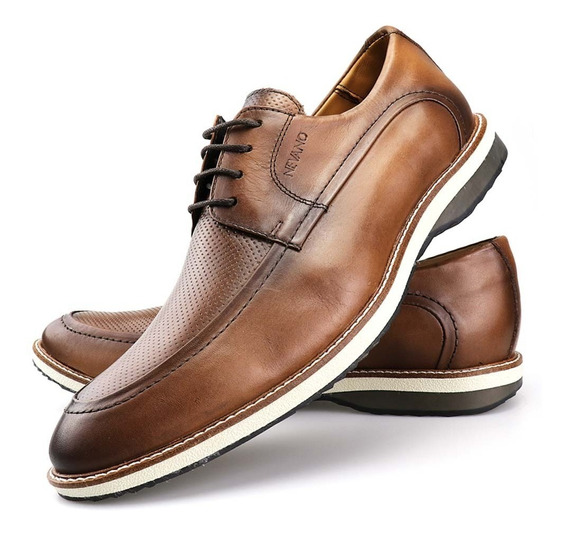 Sapato Social Masculino Oxford Couro Nevano Mocassim Brogue