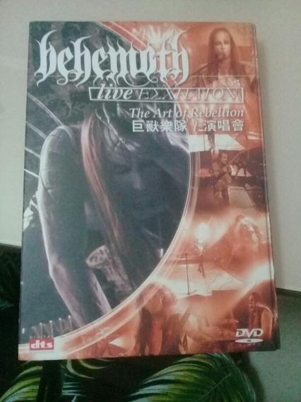 Dvd Behemoth Live Esxhaton Heavy Metal The Art Of Rebellion