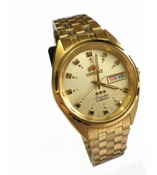Relogio Orient Automatico Dourado Masculino Original Nf