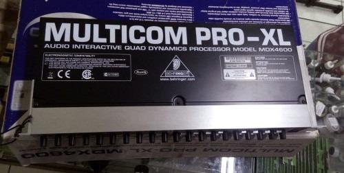 Compressor 4 Canais Multicom Pro Xl Mdx 4600 - Behringer