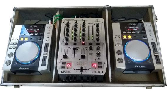 Cdj 200 Pionner (par) + Mixer Vmx 300+case (único Dono) 110v