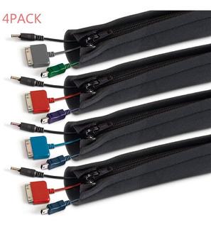 Organizador Cubre Cables Con Cierre Cremallera 150cm 4 Pzs