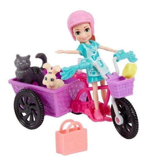 Polly Pocket Bicicleta Aventura Com Bichinho Mattel Gfr03
