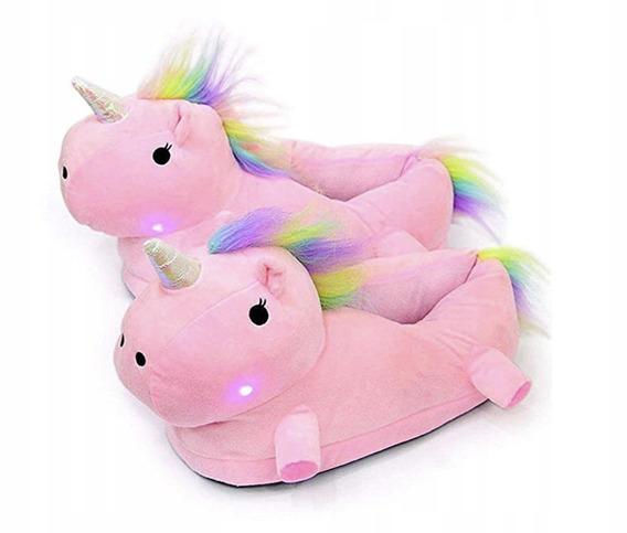 Pantuflas Unicornio Con Luces Led 100% Originales Importadas