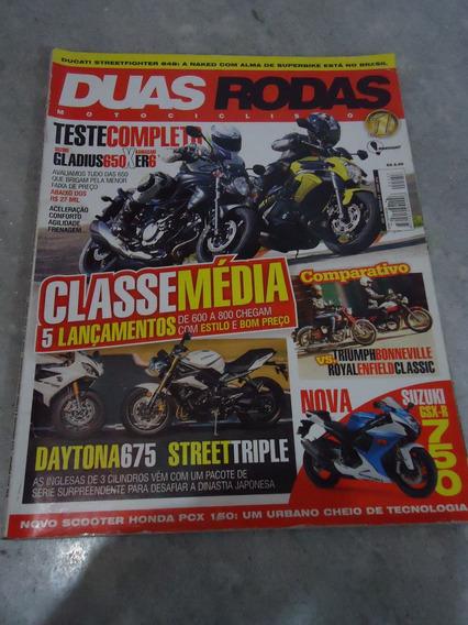 Revista Duas Rodas Nº 453 Suzuki Gladius650 Kawasaki Er6